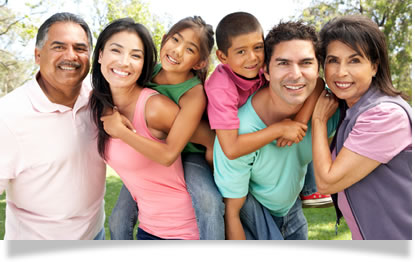 Happy Latino Family